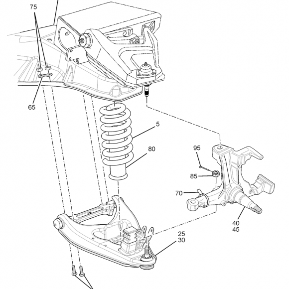 P32 Front Suspension Diagram
