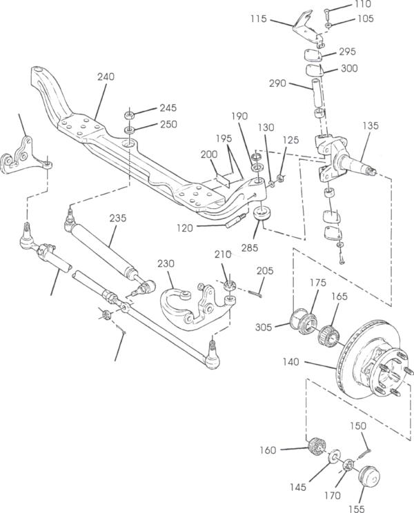 P42 Front Axle Parts