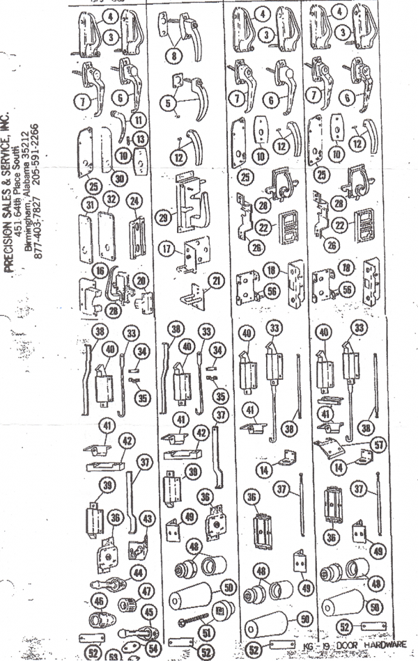 P Chassis Body Hardware